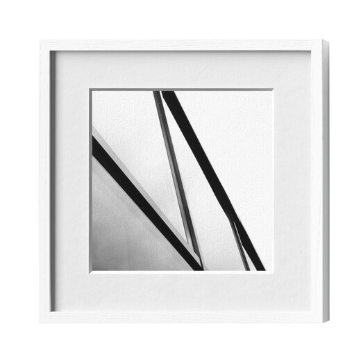 Picture frame wood ash white