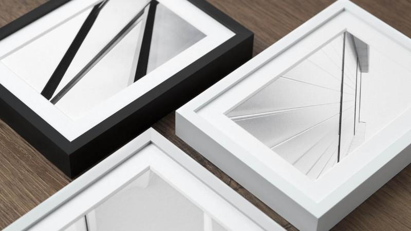 Photo frame aluminium in 3 colours