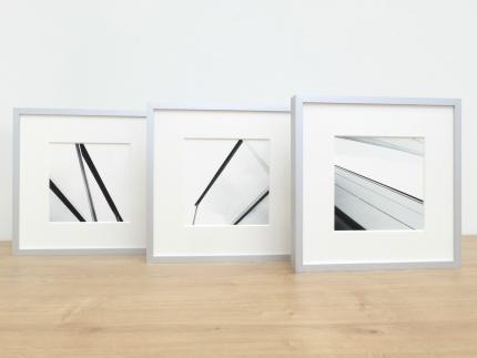 3er-Set: Classic, Alu 8, Silber matt, Normalglas m/g, 210 x 210