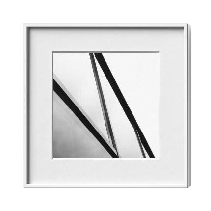 Classic-Magnetrahmen, Alu 6, Weiß matt
