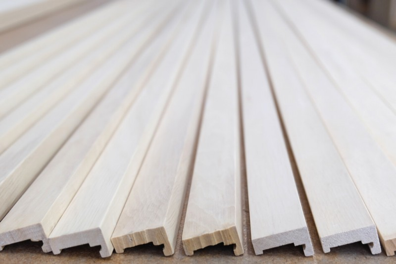 Material wooden strips