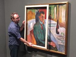 Vergleich alte und neue Rahmen für Edvard Munch Gemälde
