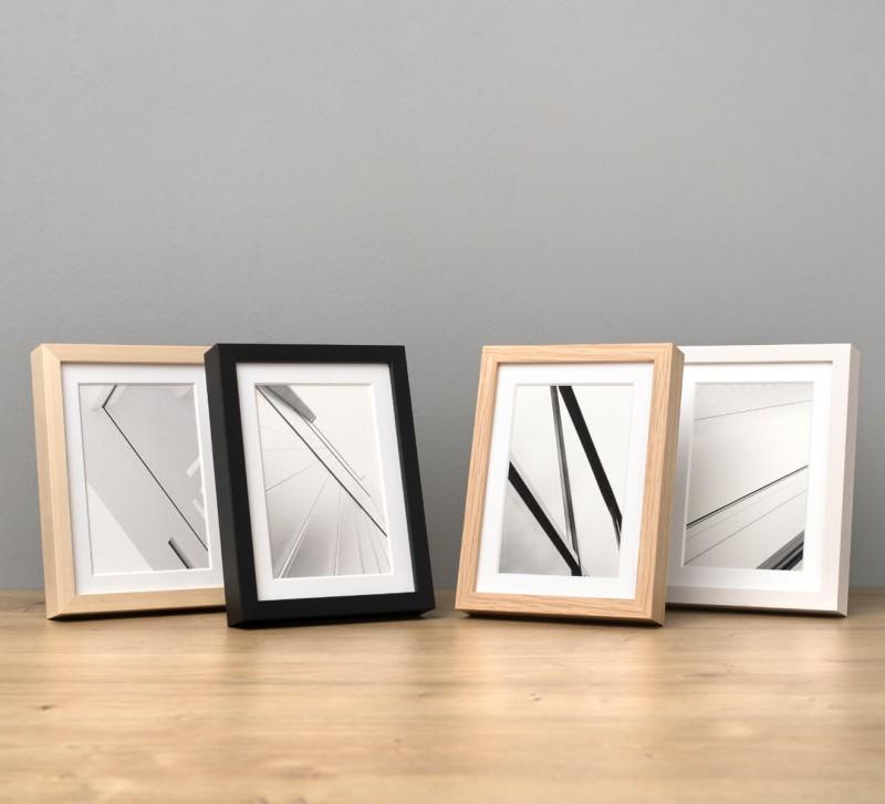 Fotorahmen Holz in 4 Farben