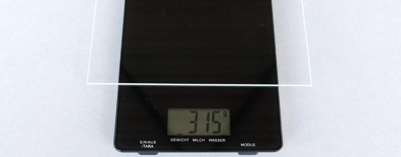 Gewicht Bilderglas