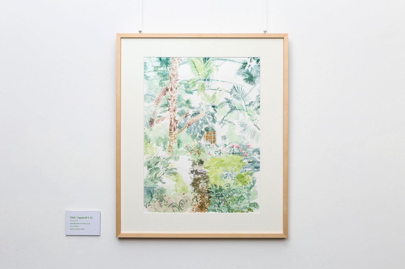 IMMER GRÜN – Palmenhaus - Aquarelle von Patricia Winter