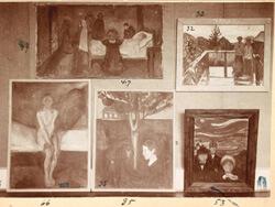 Edvard Munch Sommeratelier mit Originalrahmen