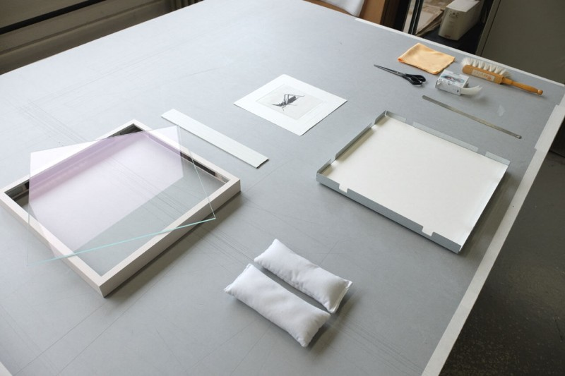 Vorbereitung - Frei montiert mit Fotoecke im Distance Rahmen