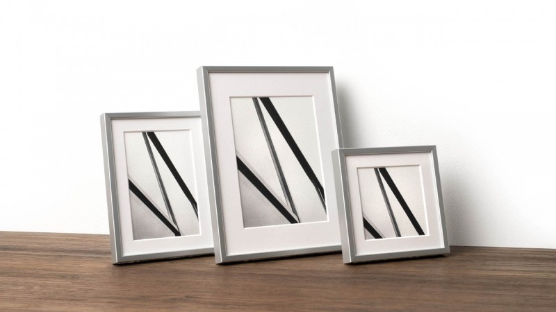 Photo frame with Alu 6 profile in three sizes