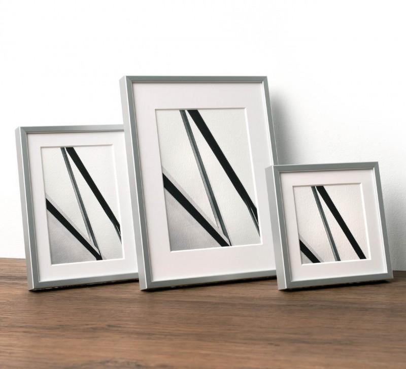 Fotorahmen mit Alu 6 Profil in Größe 13x13 cm, 13x18cm, 18x24 cm