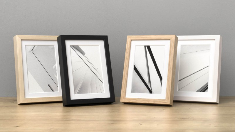 Photo frame wood in 4 colours