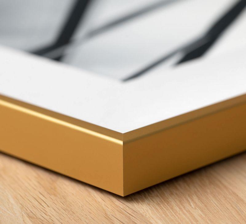 Bilderrahmen Gold Edition - bündige 45 Grad Gehrung außen