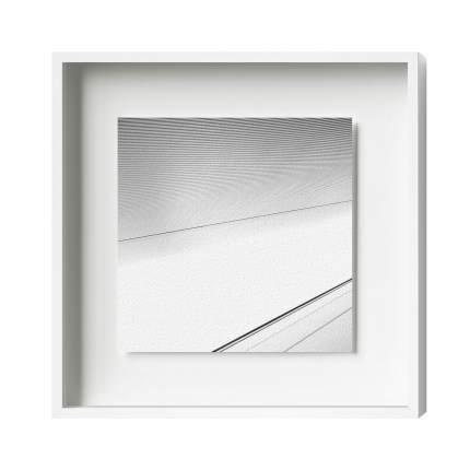 Distance-Magnetrahmen, Alu 8, Weiß Matt