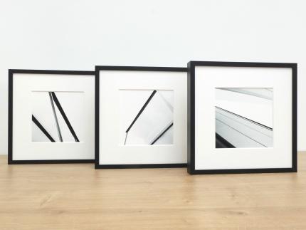 3er-Set: Classic, Alu 8, Schwarz matt, Normalglas m/g, 210 x 210