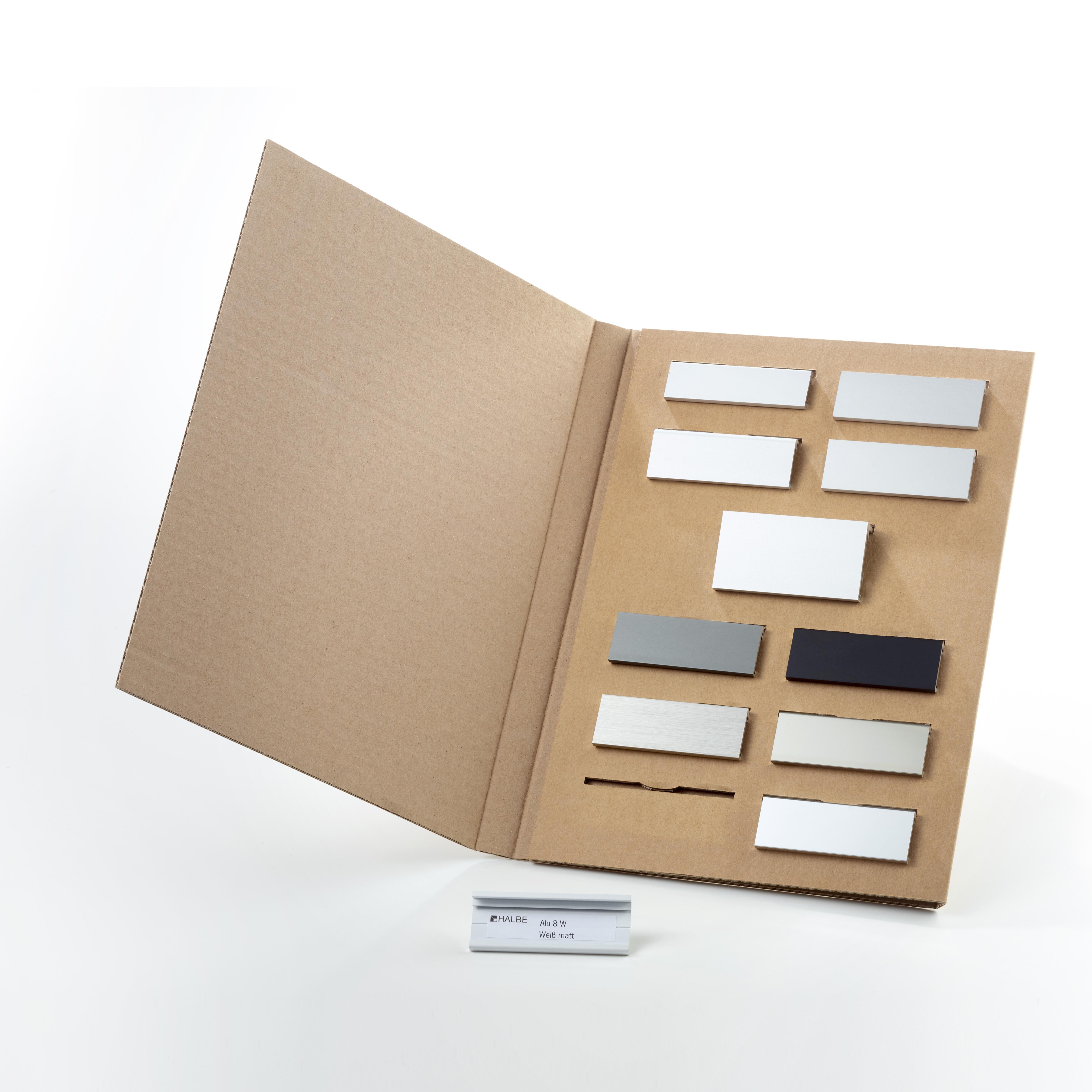 muster set aluminiumprofile muster service halbe. Black Bedroom Furniture Sets. Home Design Ideas