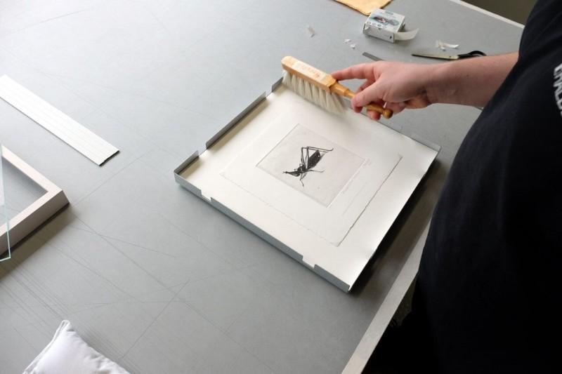 Säubern - Frei montiert mit Fotoecke im Distance Rahmen