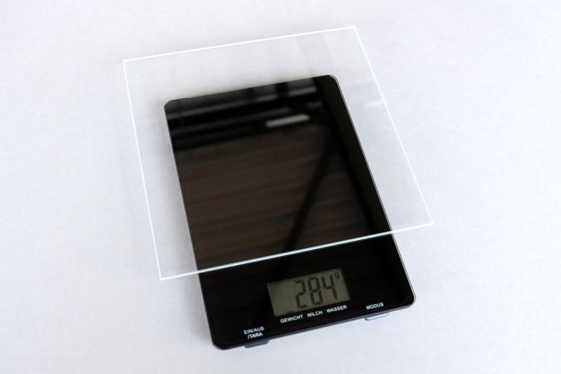 Weißglas Bilderglas Gewicht