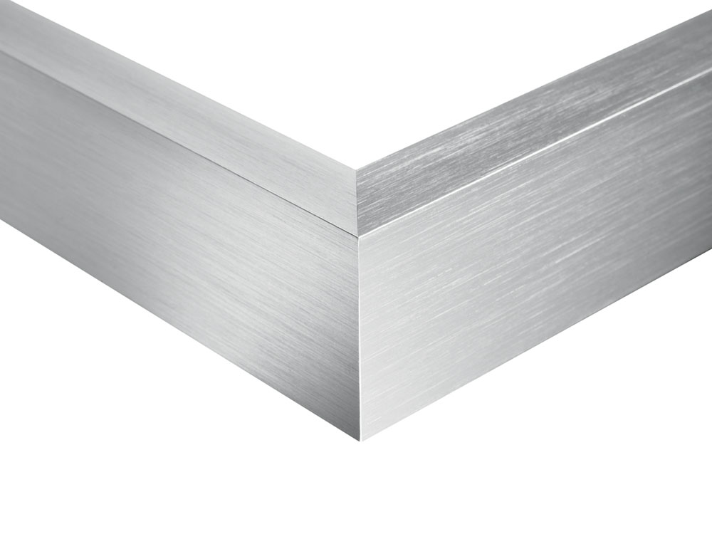 brushed aluminium-stainless steel