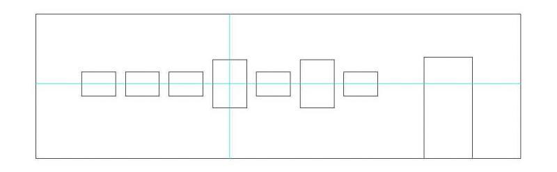 Reihenhängung mit chaotischem Wechsel von Hoch- und Querformat mit kleinen und großen Formaten