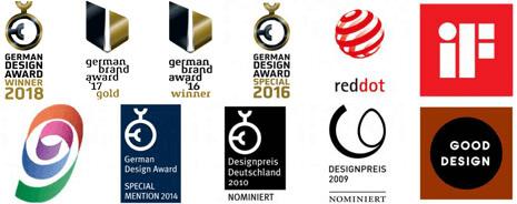 Halbe-Rahmen Awards - awarded picture frames