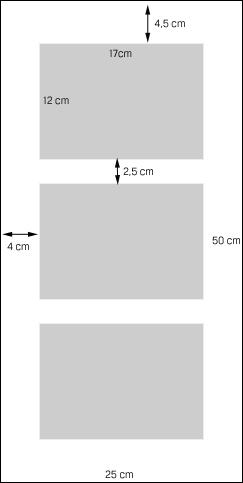Skizze - Hochformat mit 3 Ausschnitten