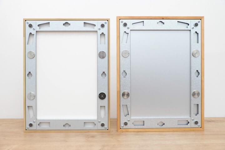 Vergleich Rückseite Conservo vs. Conservo-Distance Magnetrahmen
