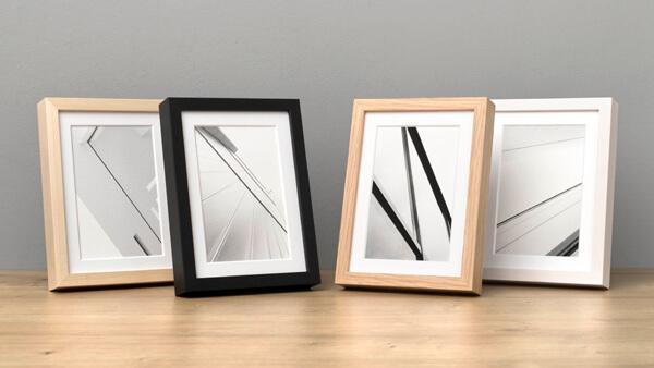 Bilderrahmen 13x18 aus Holz in vier Farben