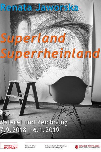 """Ausstellung """"Superland Superrheinland"""" präsentiert in HALBE Rahmen"""
