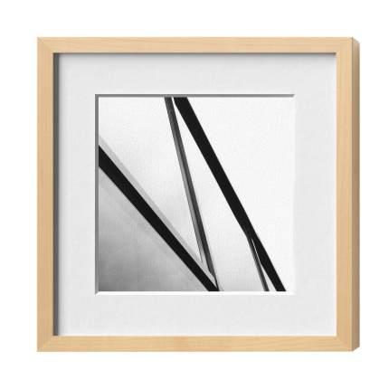 Classic-Magnetrahmen, Holz 16, Ahorn Natur, Normalglas glä, 500 x 600