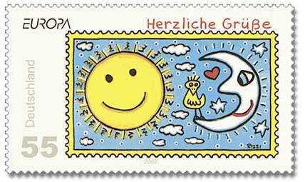 Rizzi-Briefmarke-Sonne-Mond