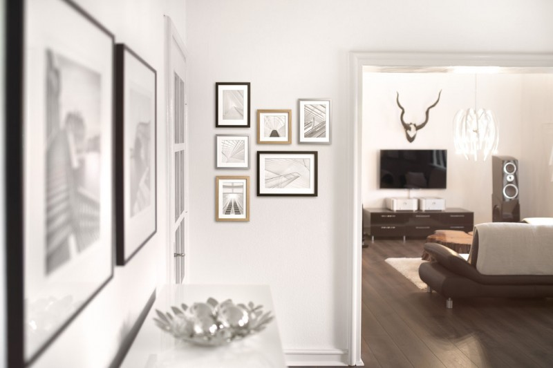 Interior design with picture frame