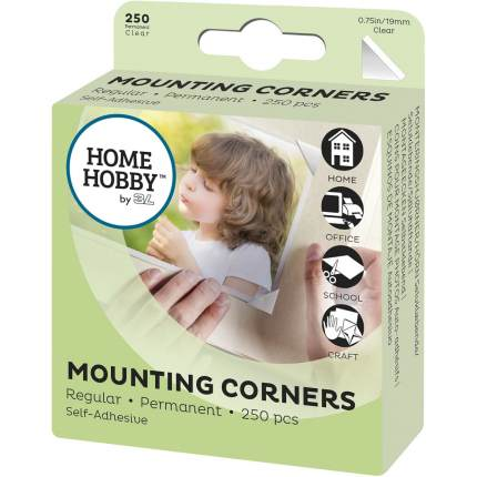 Photo corner small, transparent, 19 mm, 250 units, self-adhesive