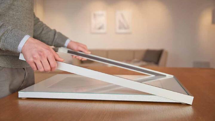 HALBE Magnetrahmen für einfaches einrahmen von Papierarbeiten