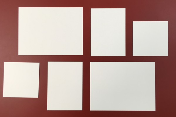 Visualize wall design with paper stencils