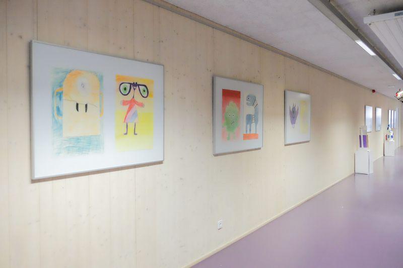 Hängung an Galerieschienen