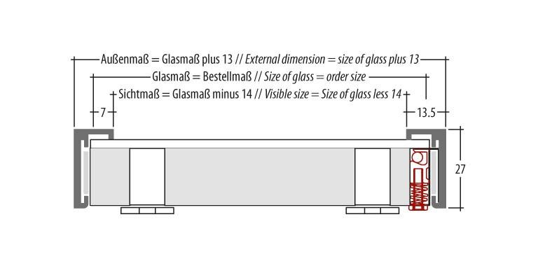 Insertion depth for display magnetic frame
