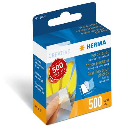 Adhesive strips Herma 1070, 500 strips 12 x 17 mm, double-sided