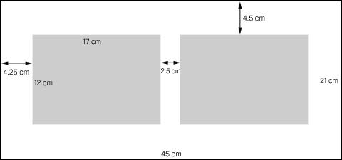 Skizze - Querformat mit 2 Ausschnitten
