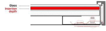 picture frame insertion depth conservo magnetic frame