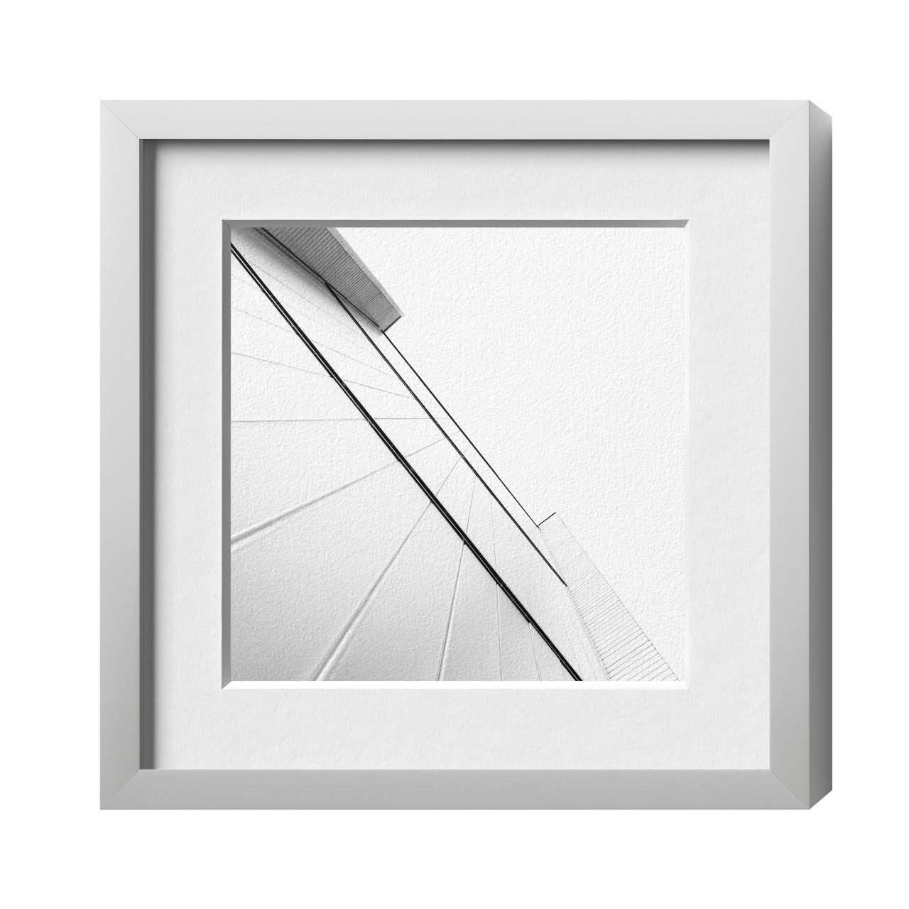 Protect Alu 18, Silber matt, Plexiglas glä. kf, 210 x 297 | HALBE-Rahmen