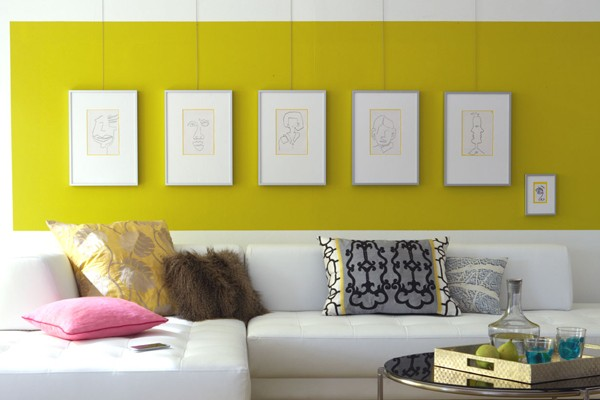Wall design: focus on the picture